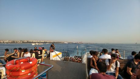 people, crowd, travel, vehicle, watercraft, water, sea, Istanbul, ocean, seaside, boat