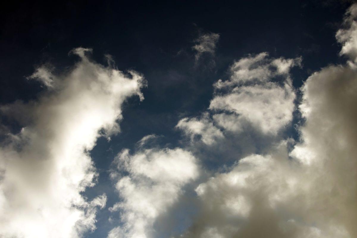 Mennyország, meteorológia, napsütés, kék ég, természet, hangulat, felhő, felhős