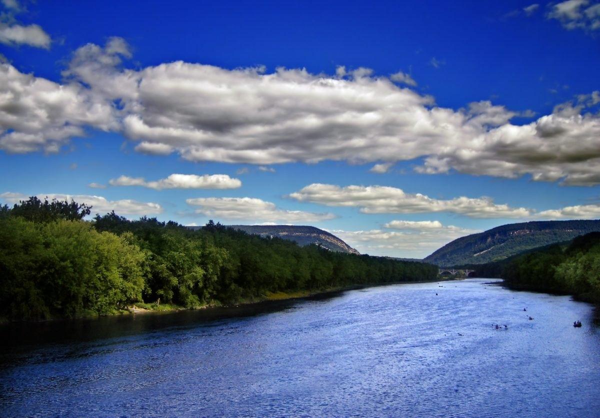 νερό, ουρανός, τοπίο, Ποταμός, βουνό, φύση, αντανάκλαση, ουρανός