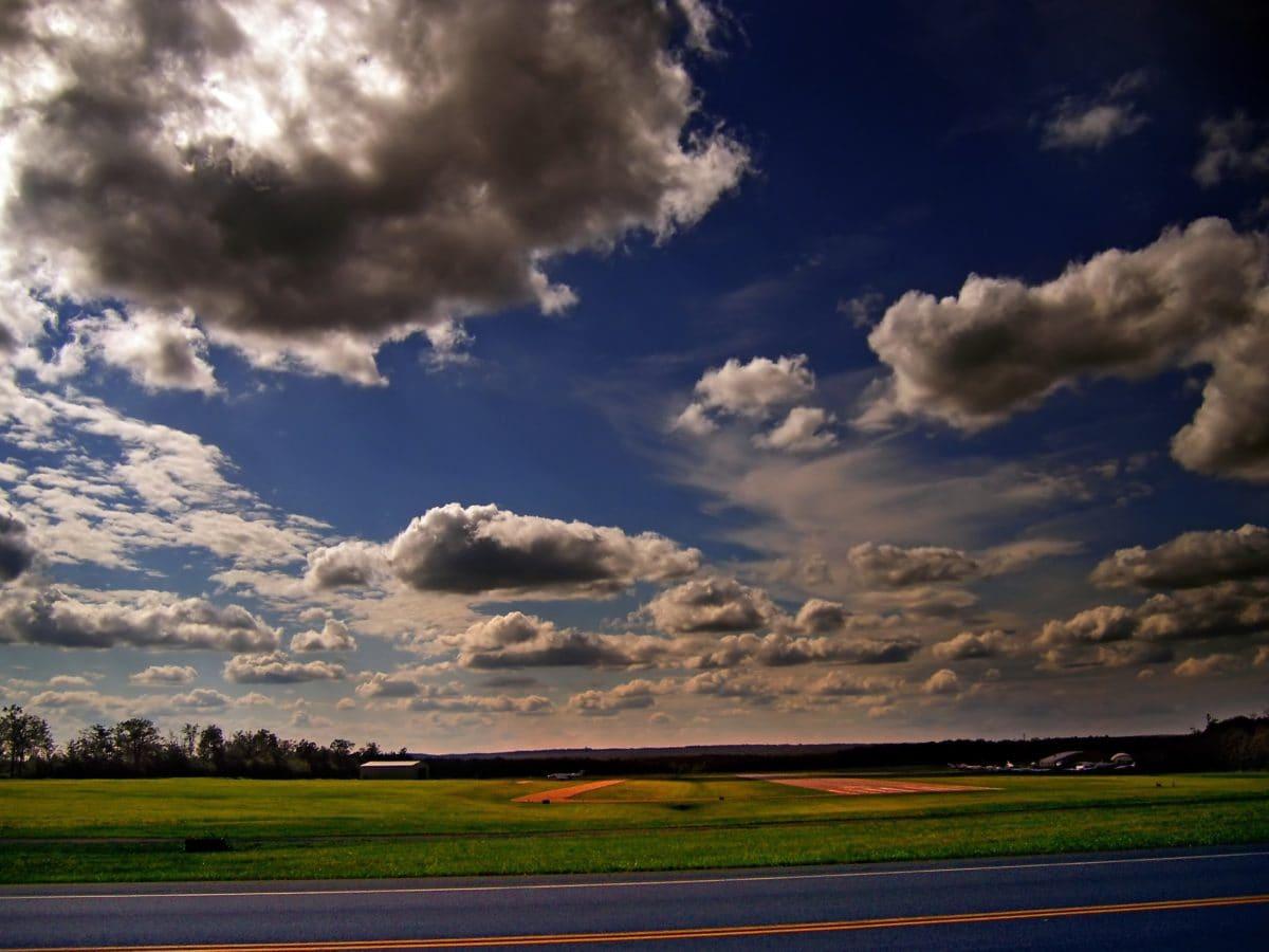 landscape, countryside, nature, sky, summer, cloud, field, sun