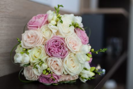 bride, flower, petal, rose, arrangement, pink, plant, table