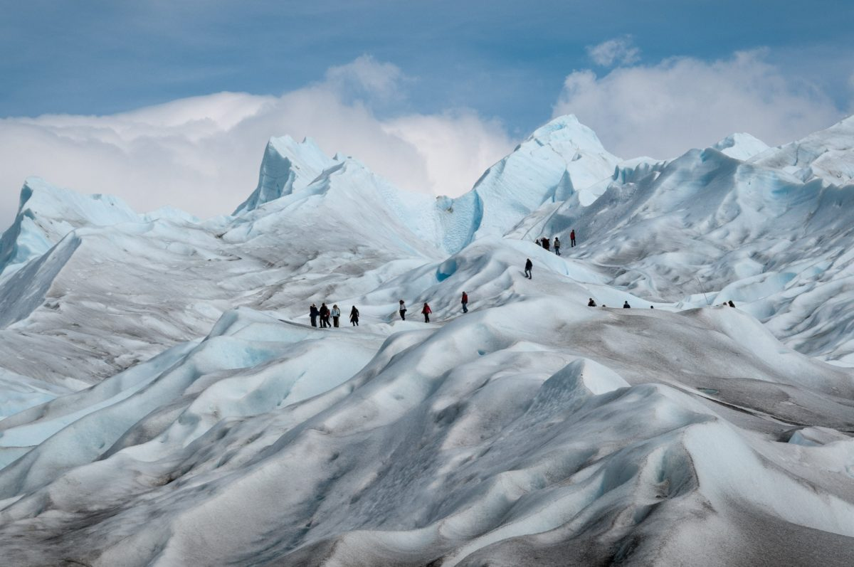 glacier, winter, ice, mountain, cold, snow, extreme sport, landscape, blue sky