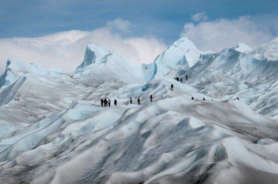Gletscher, Winter, Eis, Berg, Kälte, Schnee, Extremsport, Landschaft, blauer Himmel