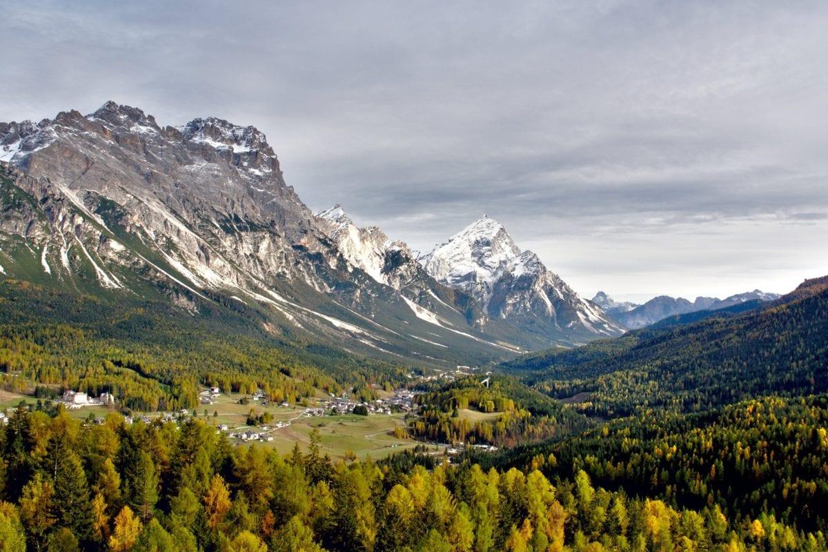 dřevo, Hora, sníh, krajina, příroda, ledovec, obloha, vysoká
