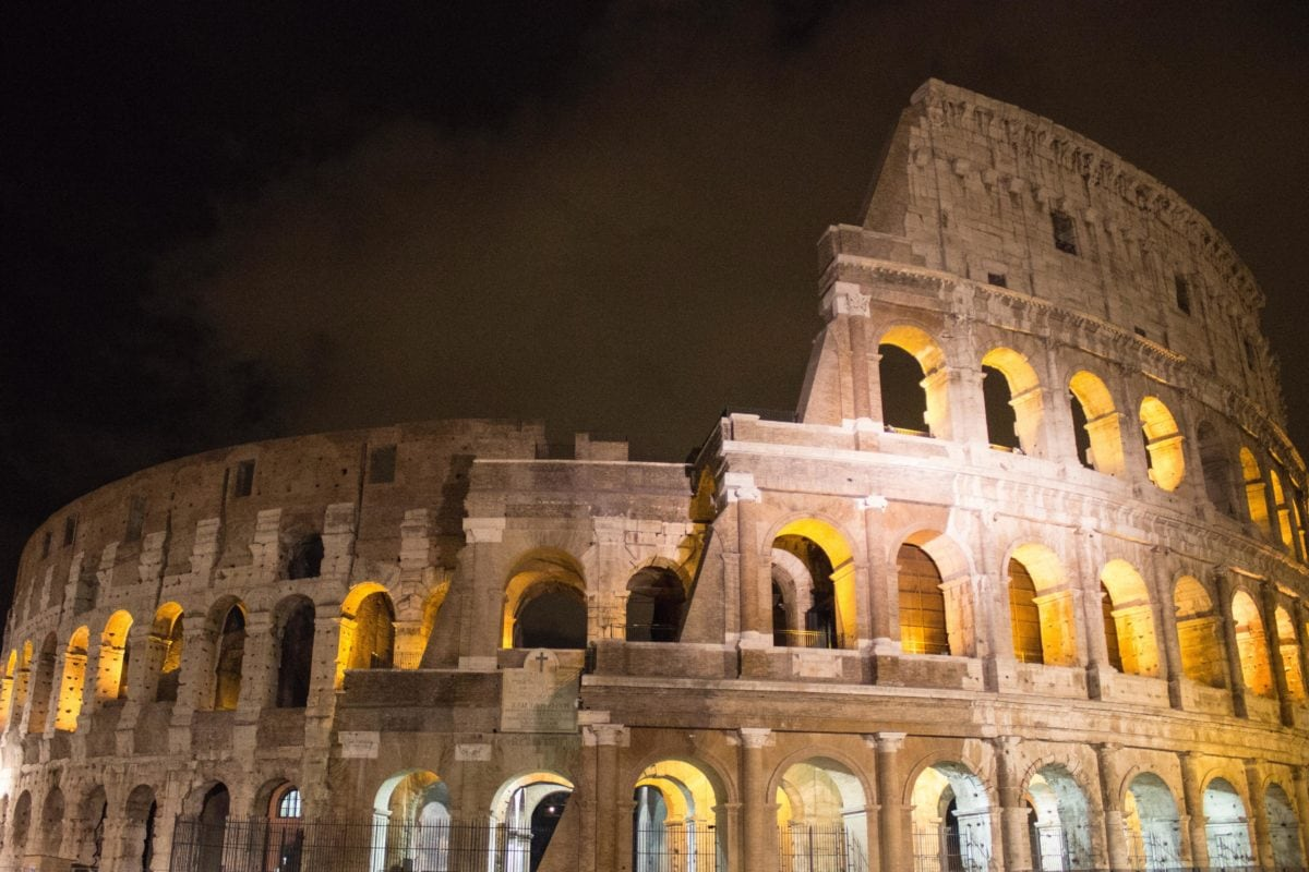 architecture, colosseum, Rome, Italy, ancient, stadium, dusk, amphitheater, Colosseum