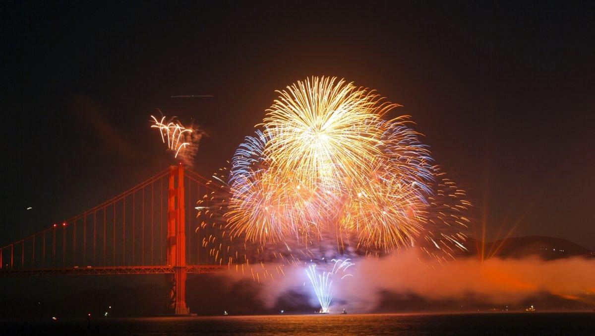 Festival, kembang api, malam, bahan peledak, malam, ledakan, air mancur