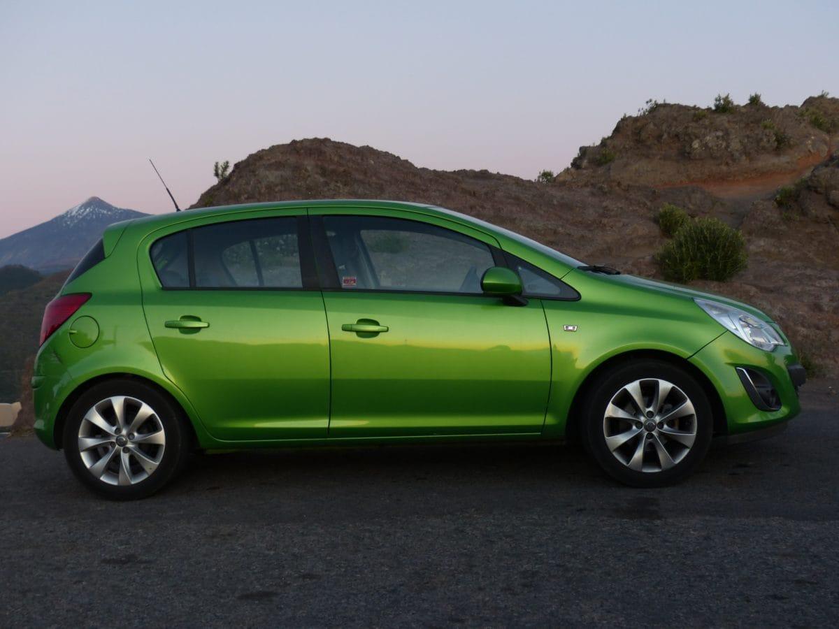 wheel, green car, automotive, vehicle, car rim, modern automobile, transportation