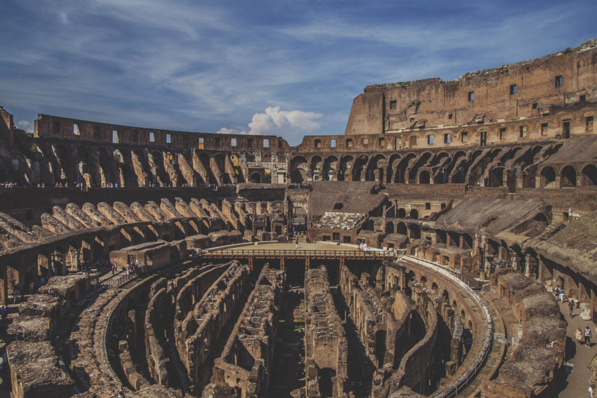 colosseum, architecture, tourist attraction, Rome, Italy, ancient, rampart, blue sky, outdoor