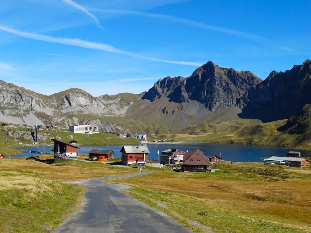 landscape, mountain, national park, valley, snow, sky, grass, outdoor