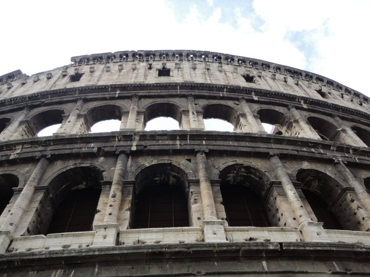 monument, exterior, facade, medieval, Rome, Italy, architecture, stadium, ancient, Colosseum, amphitheater