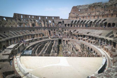 อิตาลี, โรม, สถาปัตยกรรม, โรงละคร, อัฒจันทร์, สนามกีฬา, โคลอสเซียม, โครงสร้าง