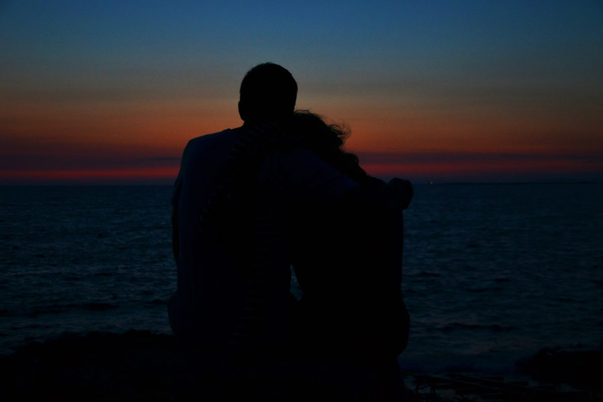 sunset, silhouette, people, shadow, beach, sun, ocean, dawn, dusk