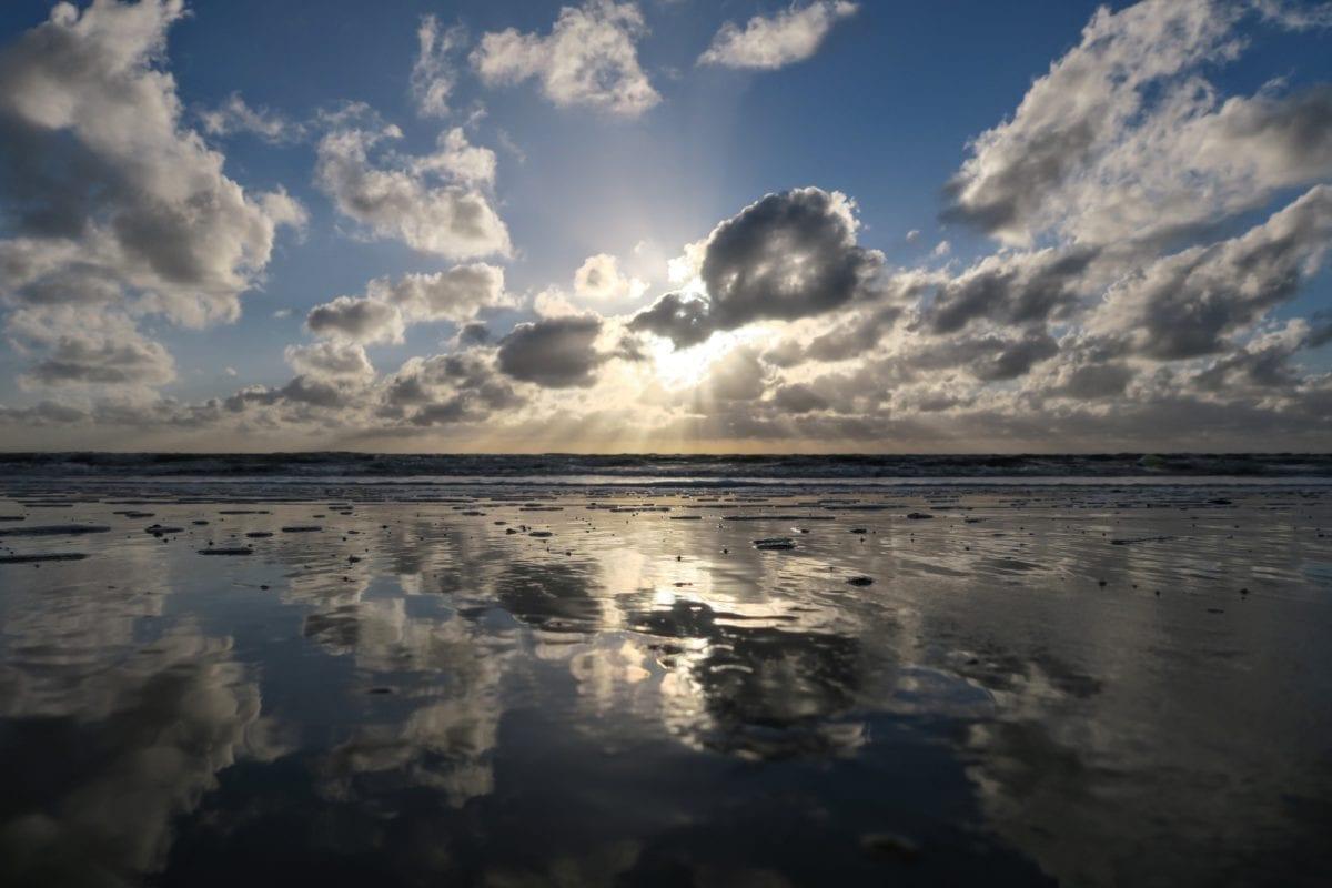 seascape, water, beach, ocean, landscape, sea, sky, sunset