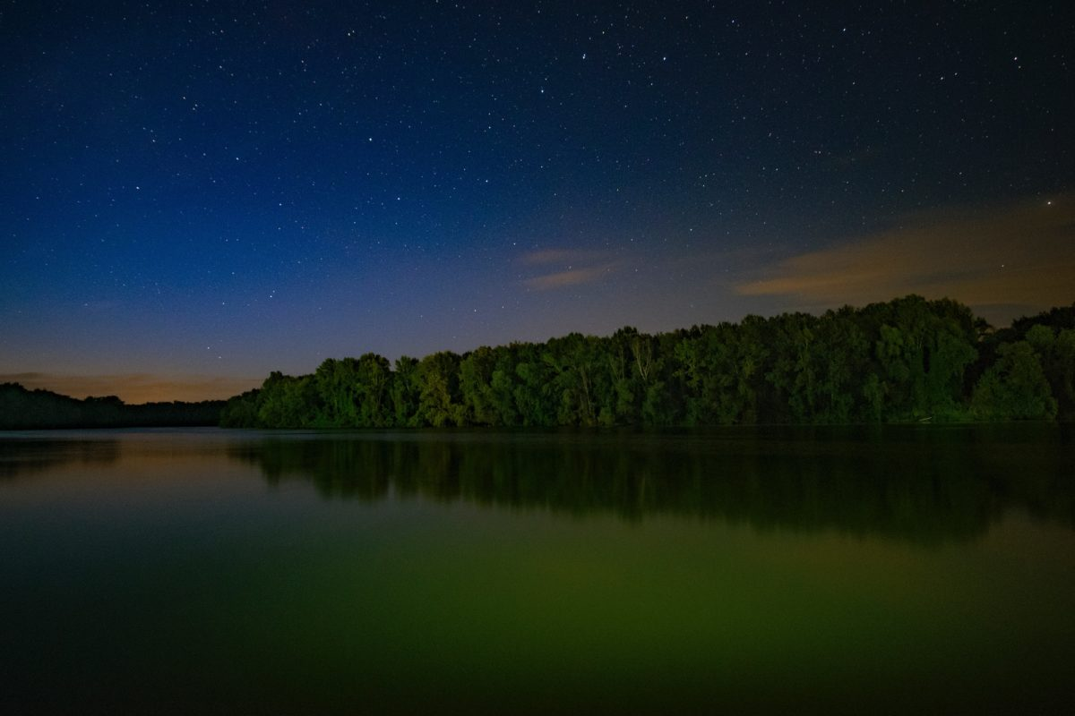 reflection, night, water, dawn, landscape, nature, lake, sky, moon
