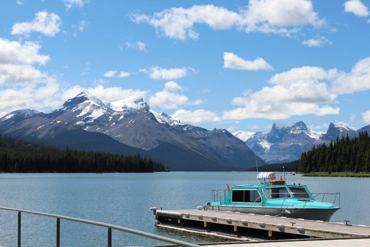 yecht, veículo, montanha, água, lago, Lakeside, Costa, paisagem, céu azul