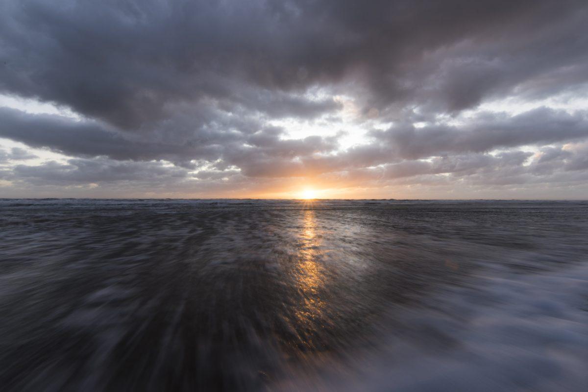 dawn, sunset, beach, sea, sky, seascape, water, ocean, sunlight, wave
