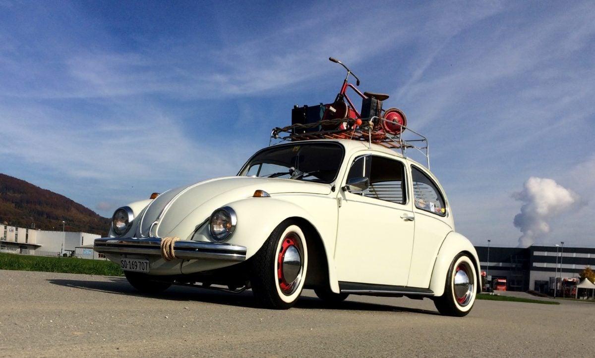 coche viejo, vehículo, transporte, automóvil, velocidad, asfalto, cielo azul