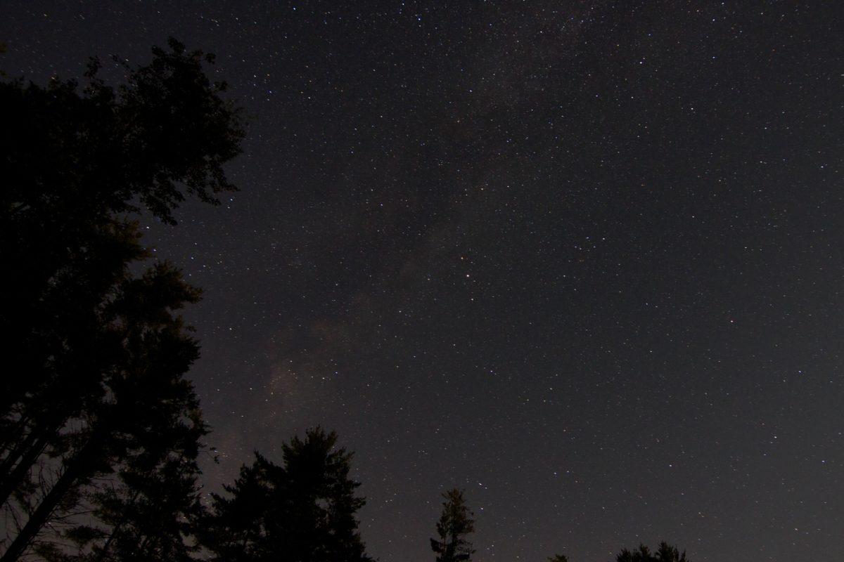 nebo, galaksija, tamno, mjesec, astronomija, zima, Constellation