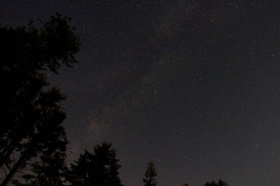 небо, галактика, темний, місяць, астрономія, зима, сузір'я