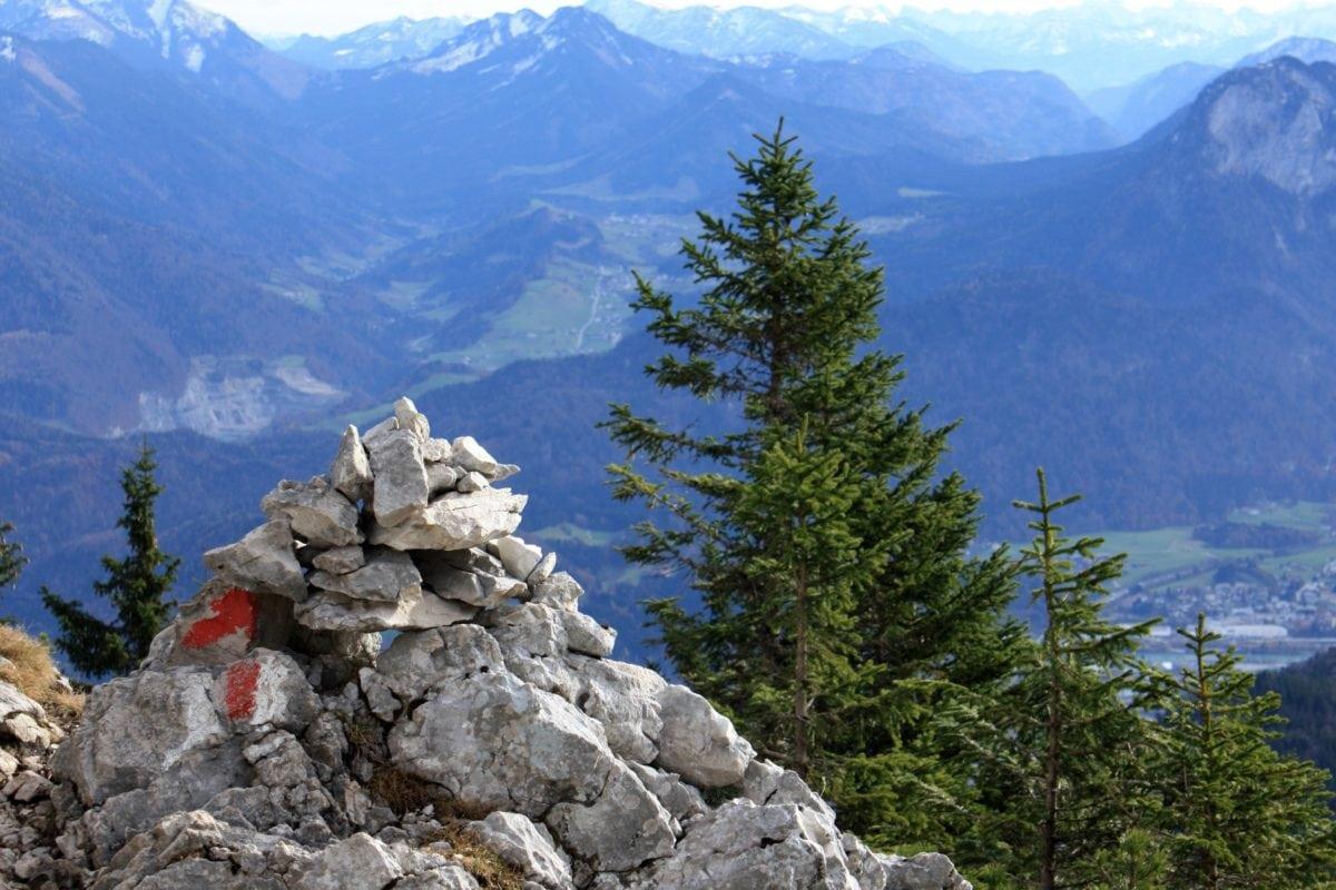 nieve, cielo, caminata, madera, alto, naturaleza, paisaje, pico de la montaña