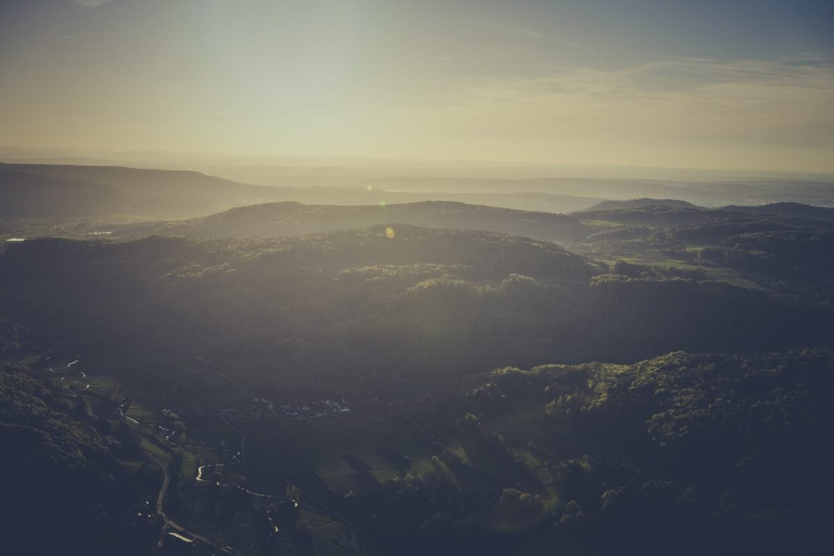 fog, mountain, sky, sunset, landscape, outdoor, nature