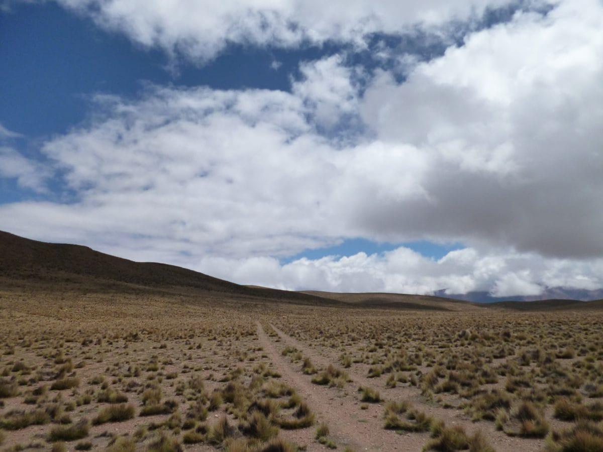 desert, landscape, nature, sand, dry, blue sky, wasteland, steppe