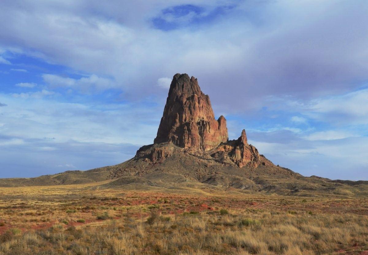 desert, blue sky, landscape, knoll, geology, mountain, outdoor, grass, nature
