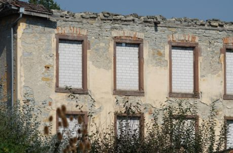 oldhouse, earthquake, wall, architecture, window, facade, brick, home