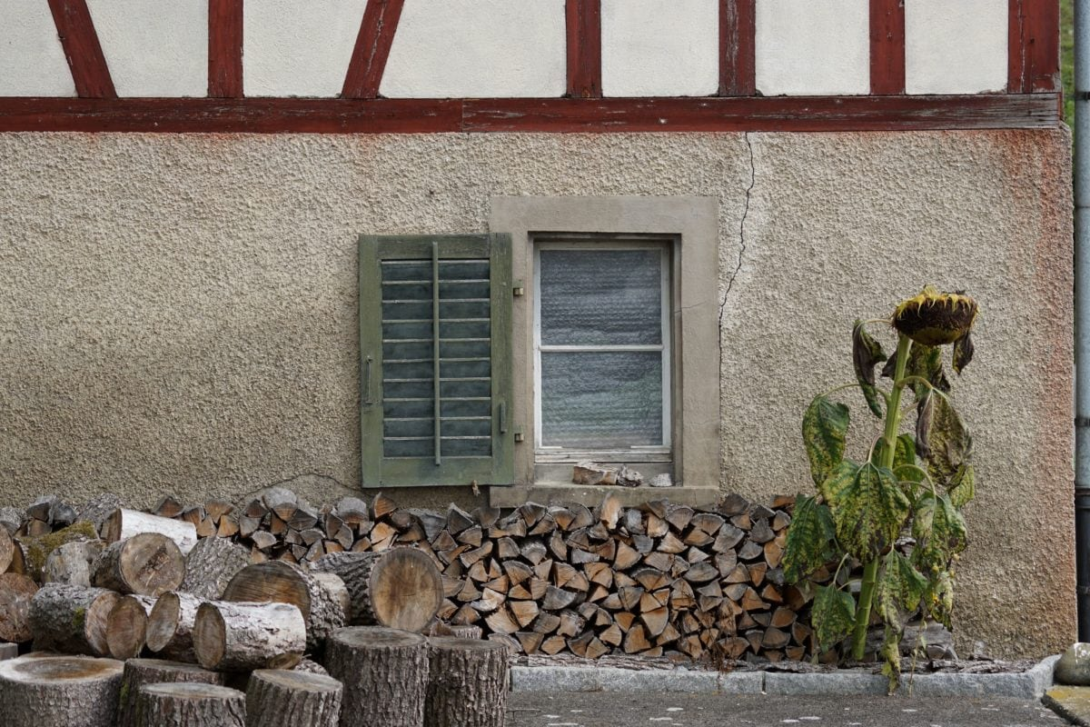 house, wall, facade, firewood, architecture, old, window, wood, firewood, outdoor