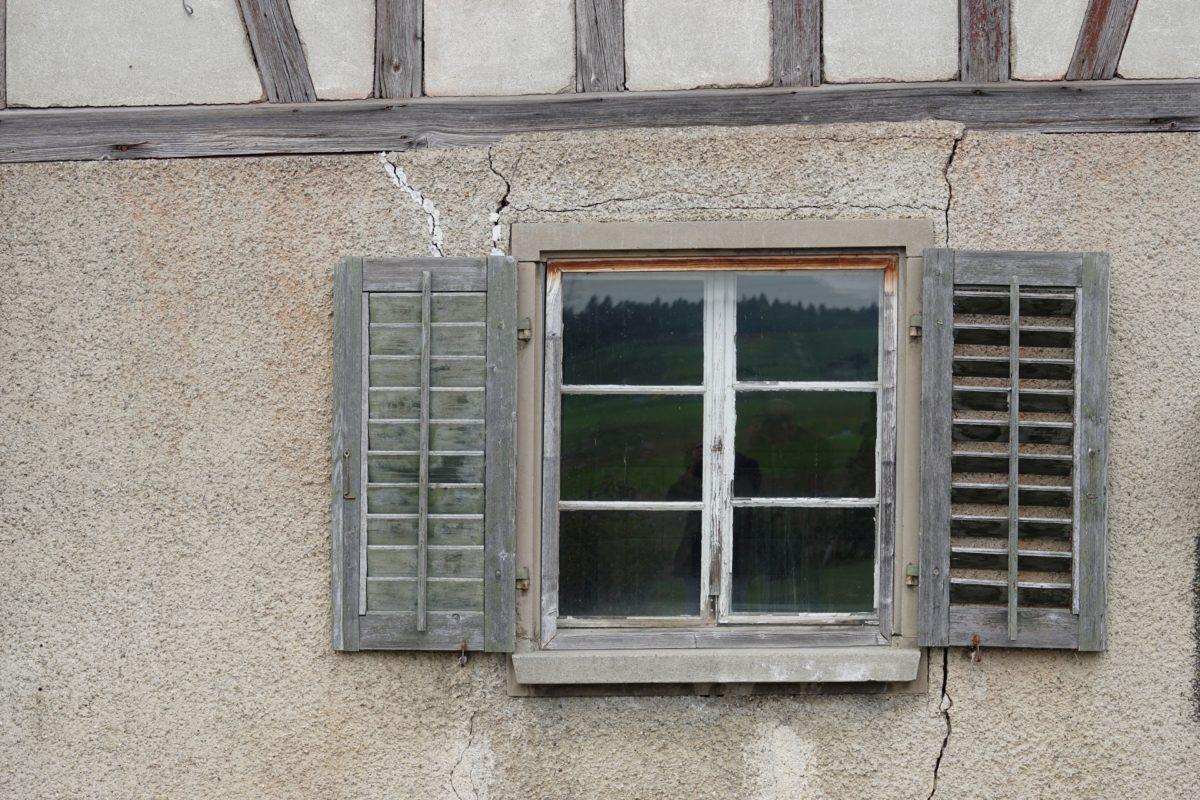 okenní štít, dům, architektura, dveře, starý, zeď, dřevo, okno