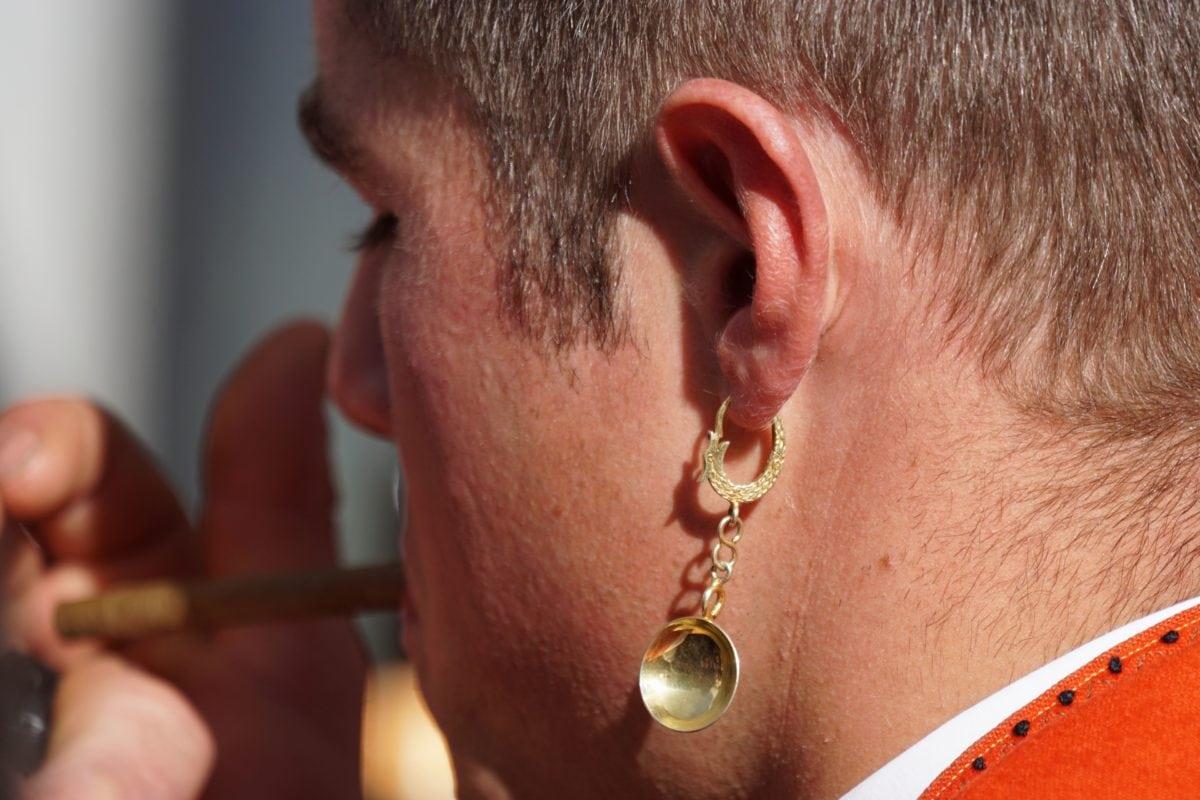 people, man, portrait, face, fashion, earring, gold, jewelry