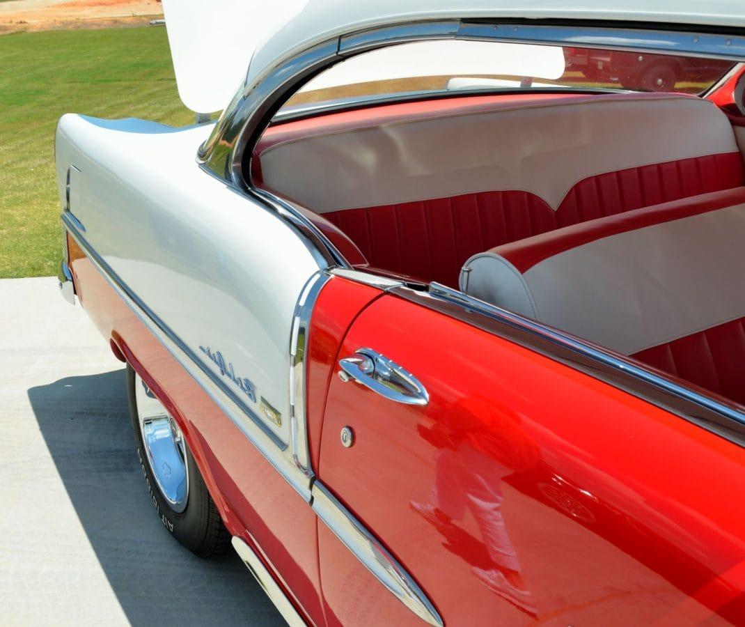 Кабрио кола, превозно средство, хром, класически, червена кола, автомобилостроенето, шофиране