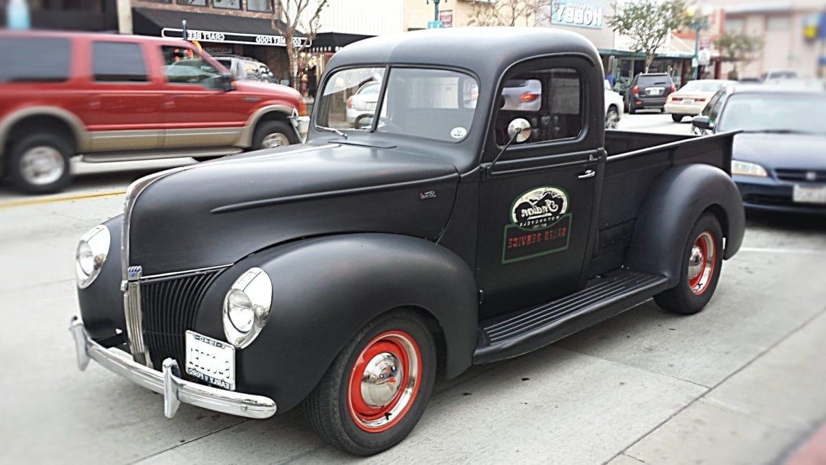black car, vehicle, street, car lot, automobile, transportation