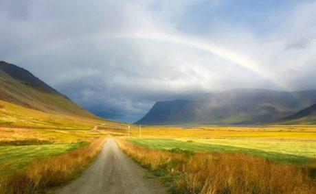 cầu vồng, phong cảnh, thiên nhiên, bầu trời, lĩnh vực, cỏ, đồng cỏ, chân trời, nông thôn
