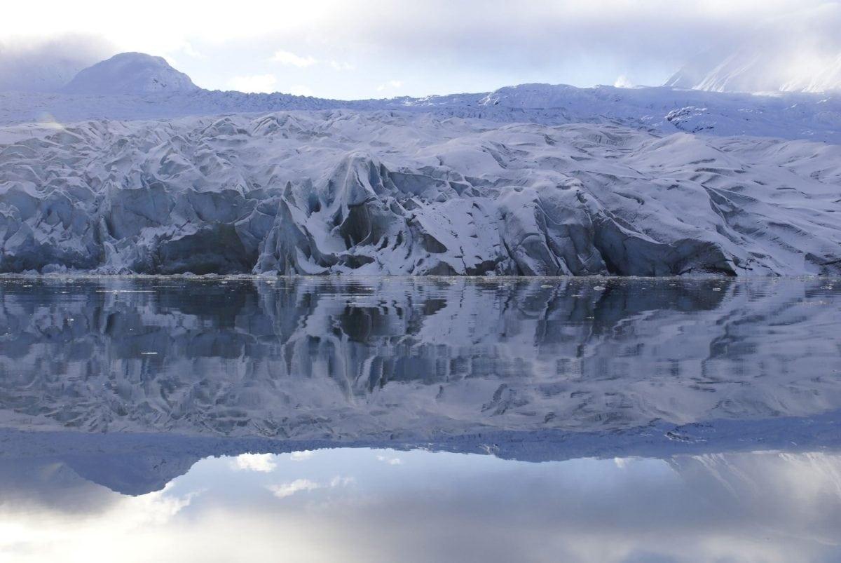 snow, cold, landscape, ice, winter, mountain, glacier, sky