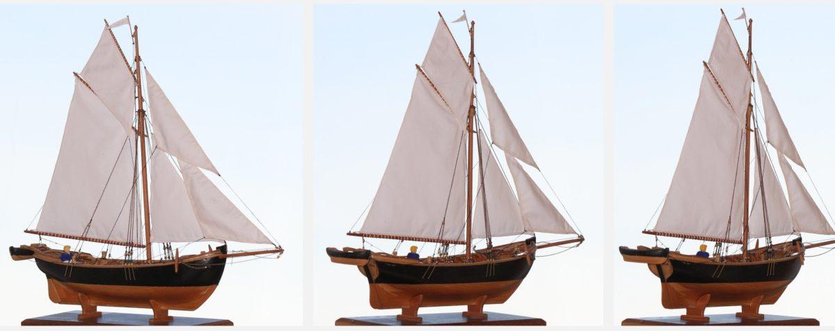 Brodski model, jedrilica, jedra, plovni brod, pirat, brod, more, voda