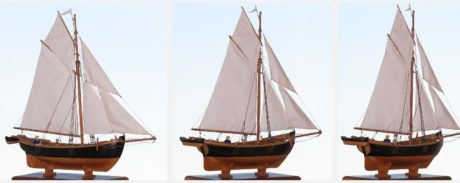 ship model, sailboat, sail, watercraft, pirate, boat, sea, water