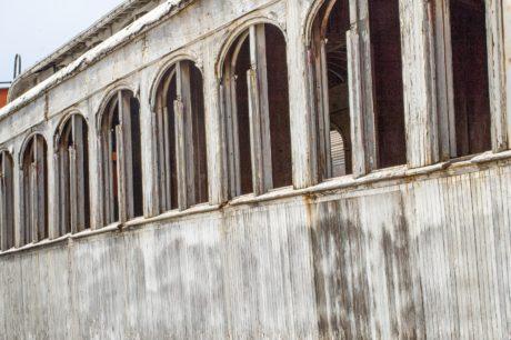 arsitektur, tua, jendela, lengkungan, eksterior, outdoor