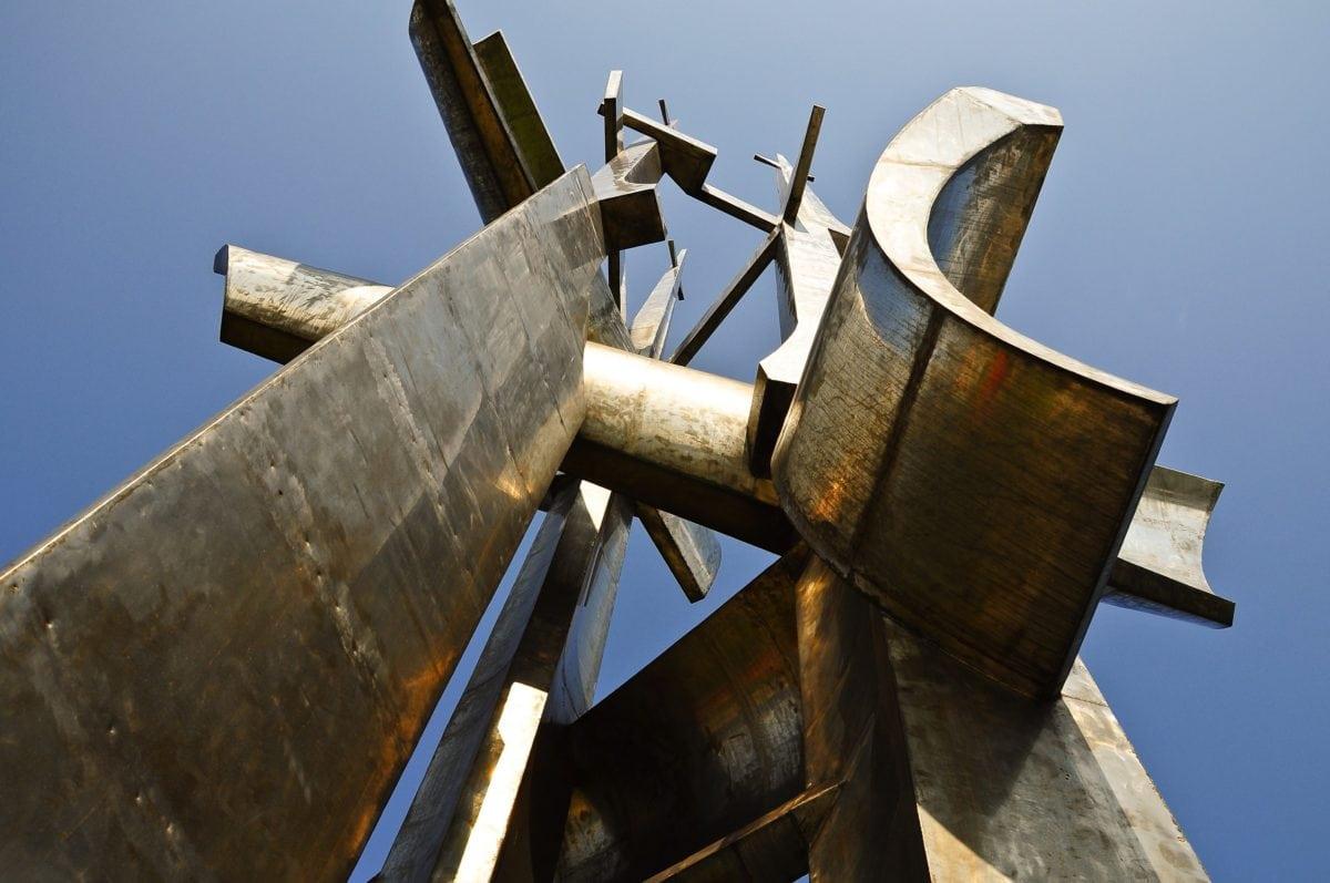 himmel, jern, gamle, skulptur, messing, kunst, mekanisme