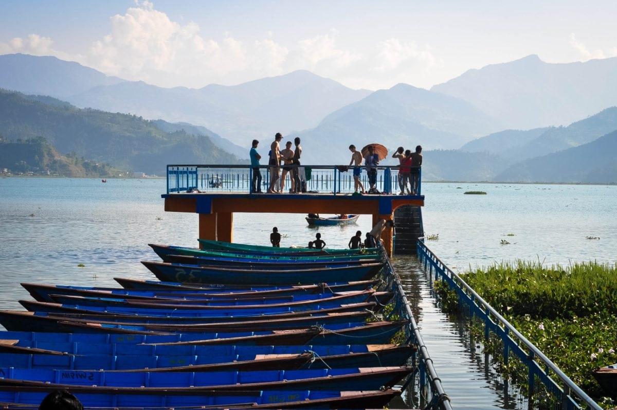 water, landscape, lake, sea, sky, boat, ocean, ship, people
