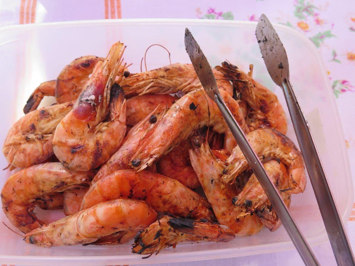 ebéd, garnélarák, tenger gyümölcsei, élelmiszer, vacsora, étkezés, finom