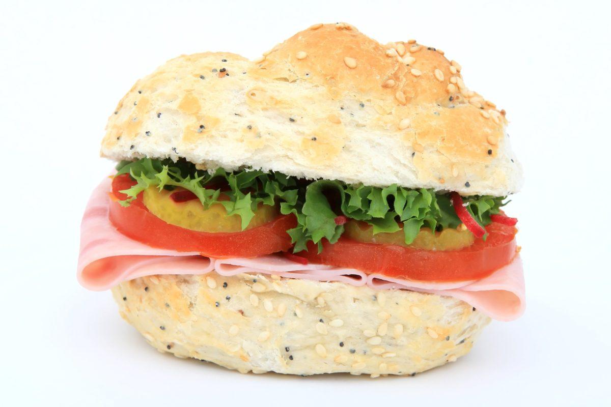 sándwich, almuerzo, lechuga, deliciosa, queso, tomate, comida