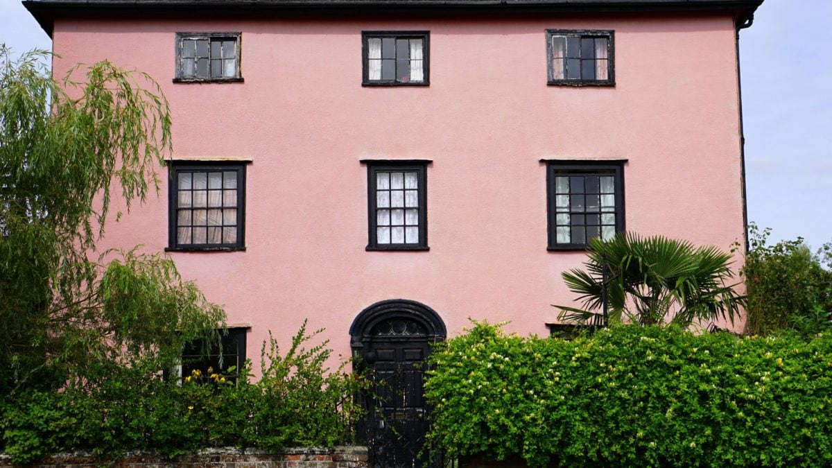 house, architecture, pink facade, home, structure, brick, outdoor