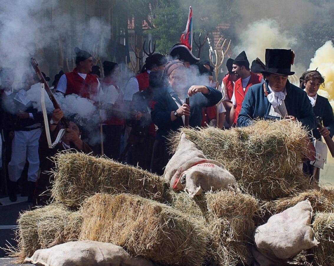 hombre, Festival de la calle, gente, campo, hierba, paja, uniforme, planta, muchedumbre