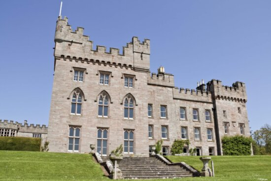 castle, architecture, old, palace, medieval, lawn, luxury, facade, house, city, tower