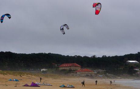 luft, extrem sport, strand, segelflygplan, fallskärm, äventyr, upprymdhet, himmel, människor