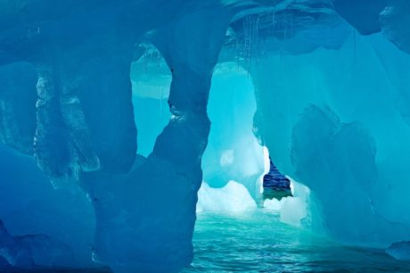 water, iceberg, cave exploration, sea, ocean, cold water