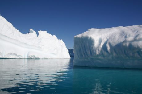 snow, water, iceberg, frozen, blue sky, glacier, cold water, ice, landscape