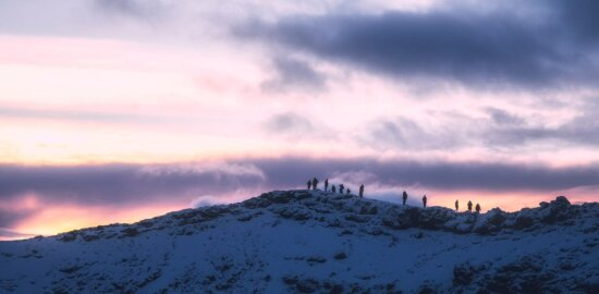 sunset, nature, landscape, snow, geology, winter, dark sky, mountain, outdoor