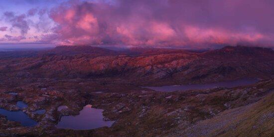 paysage, aube, montagne, coucher du soleil, Canyon, vallée, ciel rouge, extérieur
